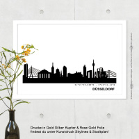 Düsseldorf Skyline Bild s/w