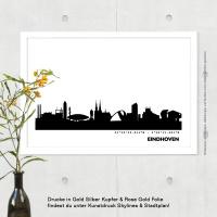 Eindhoven Skyline Bild s/w