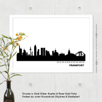 Frankfurt Skyline Bild s/w