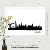 Glasgow Skyline Bild s/w