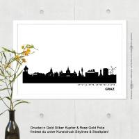 Graz Skyline Bild s/w