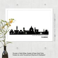 Florenz Skyline Bild s/w