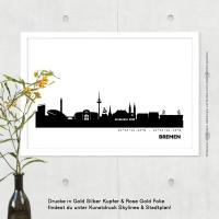 Bremen Skyline Bild s/w