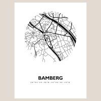 Bamberg Map Black & White