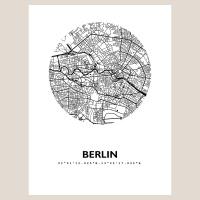 Berlin Map Black & White