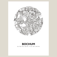 Bochum Map Black & White