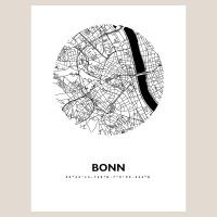 Bonn Map Black & White