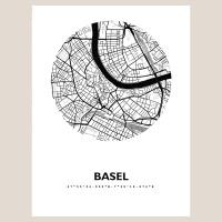 Basel Map Black & White