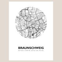 Braunschweig Map Black & White