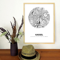 Kassel Stadtkarte rund & eckig