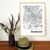 Osnabrück Stadtkarte rund & eckig