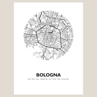 Bologna Map Black & White