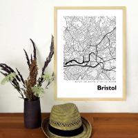 Bristol Map Black & White