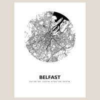 Belfast Map Black & White