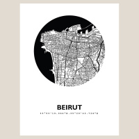 Beirut Map Black & White
