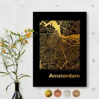 Amsterdam City Map Black & Angular