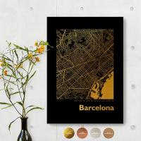 Barcelona City Map Black & Angular