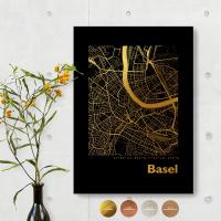 Basel City Map Black & Angular
