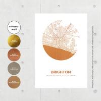 Brighton Karte Rund