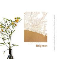 Brighton Karte Eckig