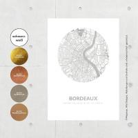 Bordeaux Map circle