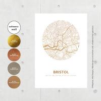 Bristol Karte Rund