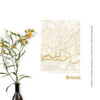 Bristol Karte Eckig