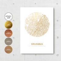 Brüssel Karte Rund