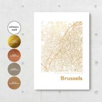Brüssel Karte Eckig