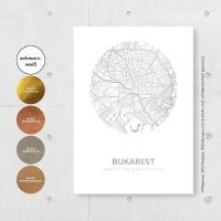 Bukarest Karte Rund