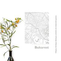 Bukarest Karte Eckig