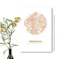 Damaskus Karte Rund