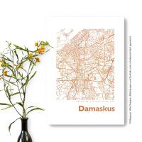 Damaskus Karte Eckig