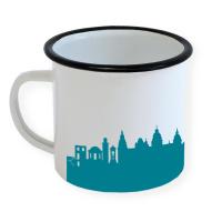 Aschaffenburg Enamel Mug Skyline