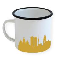 Barcelona Enamel Mug Skyline