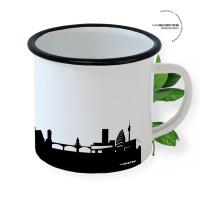 Basel Enamel Mug Skyline