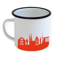 Bielefeld Enamel Mug Skyline