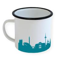 Bremen Enamel Mug Skyline