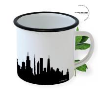 Chicago Enamel Mug Skyline