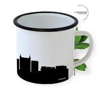 Cannes Enamel Mug Skyline