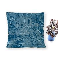 Houston HTX Stadtplan Kissen