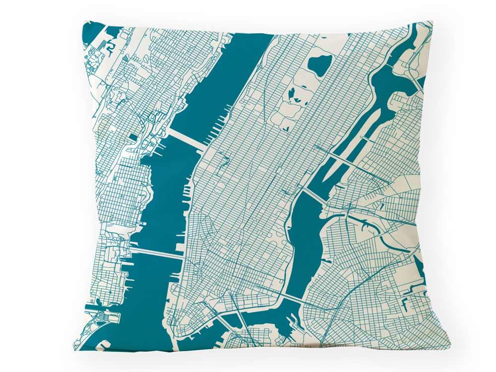 Kissen NEW YORK Stadtplan