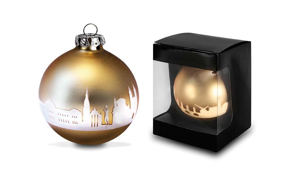 Weihnachtskugel in Gold für Wohnforum Würzburg - 44spaces