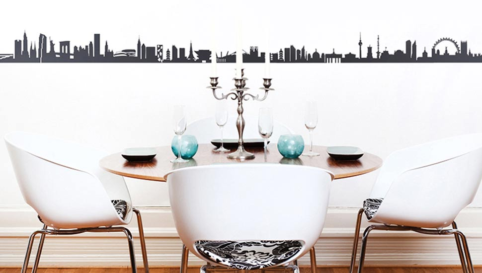 Wanddeko Skyline City Sticker - 20,00 Eur